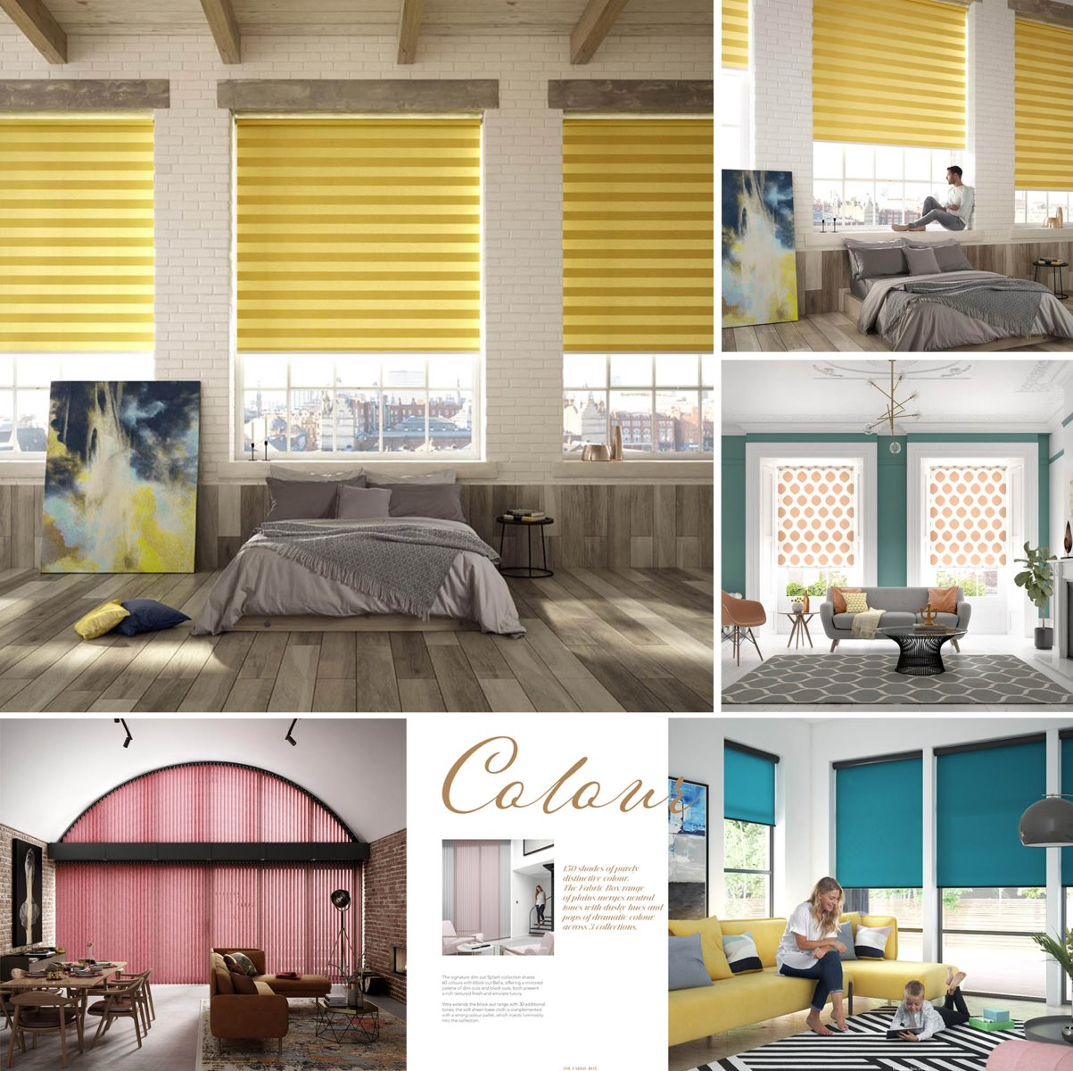 Room sets for brochure blinds
