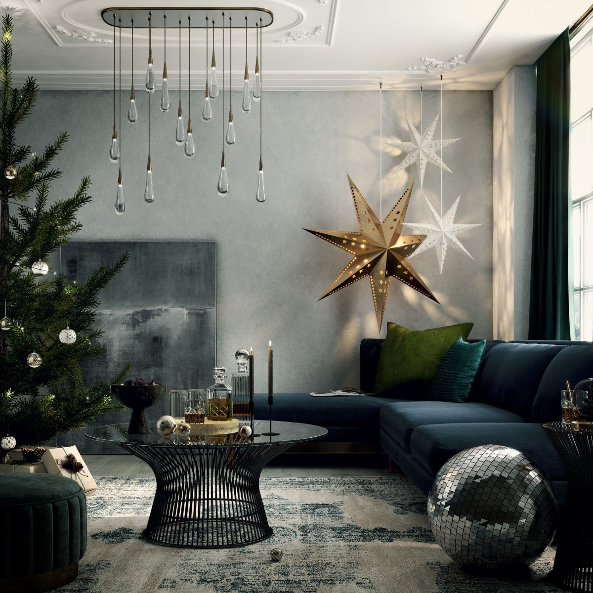 christmas room set lifestyle photography