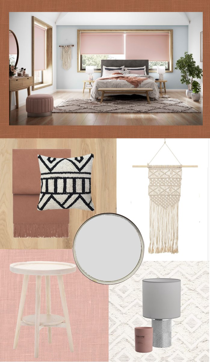 Interior design trend mood board