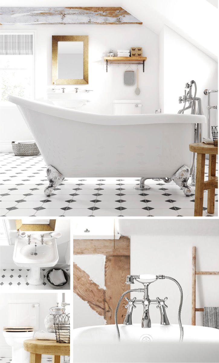 traditional bathroom pottery CGI
