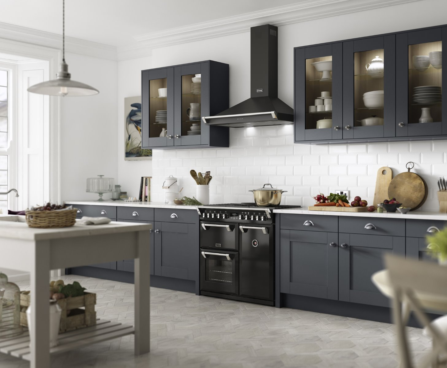 Stoves tranditional range cooker Set Visions CGI