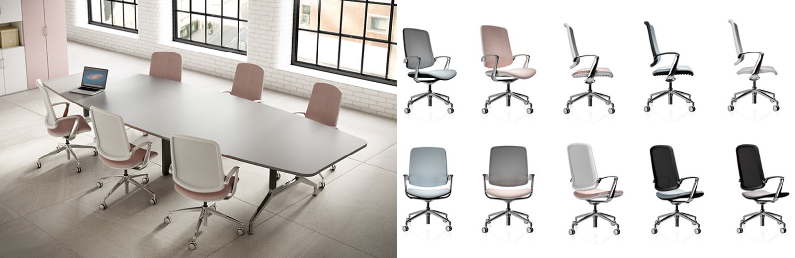 render CGI product cut outs office chairs